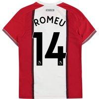 Southampton Home Shirt 2017-18 - Kids with Romeu 14 printing