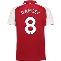 Arsenal Home Shirt 2017-18 - Outsize with Ramsey 8 printing