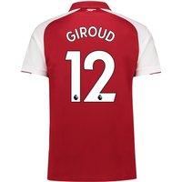 Arsenal Home Shirt 2017-18 - Outsize with Giroud 12 printing