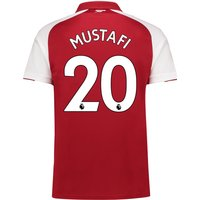 Arsenal Home Shirt 2017-18 - Outsize with Mustafi 20 printing