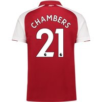 Arsenal Home Shirt 2017-18 - Outsize with Chambers 21 printing