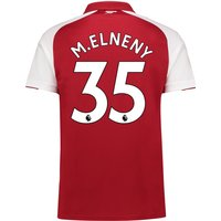 Arsenal Home Shirt 2017-18 - Outsize with Mohamed Elneny 35 printing