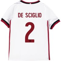 Ac Milan Away Shirt 2017-18 - Kids With De Sciglio 2 Printing