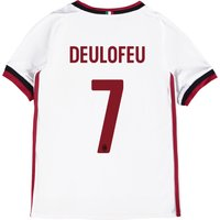 Ac Milan Away Shirt 2017-18 - Kids With Deulofeu 7 Printing