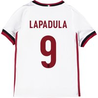 Ac Milan Away Shirt 2017-18 - Kids With Lapadula 9 Printing
