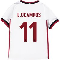 Ac Milan Away Shirt 2017-18 - Kids With L. Ocampos 11 Printing