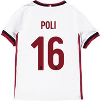 Ac Milan Away Shirt 2017-18 - Kids With Poli 16 Printing