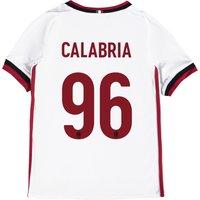 Ac Milan Away Shirt 2017-18 - Kids With Calabria 96 Printing