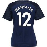 Tottenham Hotspur Away Stadium Shirt 2017-18 - Womens with Wanyama 12 printing