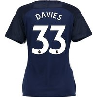 Tottenham Hotspur Away Stadium Shirt 2017-18 - Womens with Davies 33 printing