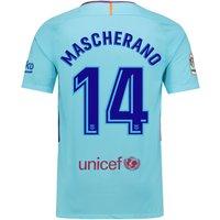 Barcelona Away Stadium Shirt 2017-18 with Mascherano 14 printing