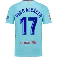 Barcelona Away Stadium Shirt 2017-18 with Paco Alcácer 17 printing