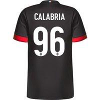 Ac Milan Third Shirt 2017-18 - Kids With Calabria 96 Printing