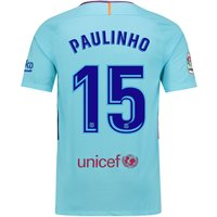 Barcelona Away Stadium Shirt 2017-18 with Paulinho 15 printing