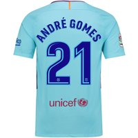 Barcelona Away Stadium Shirt 2017-18 with André Gomes 21 printing