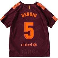 Barcelona Third Stadium Shirt 2017-18 - Kids with Sergio 5 printing