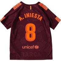 Barcelona Third Stadium Shirt 2017-18 - Kids with A. Iniesta  8 printing
