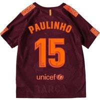 Barcelona Third Stadium Shirt 2017-18 - Kids with Paulinho 15 printing