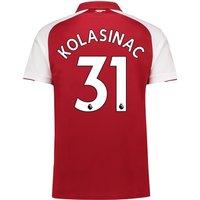 Arsenal Home Shirt 2017-18 - Outsize with Kolasinac 31 printing