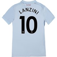 West Ham United Third Shirt 2017-18 - Kids with Lanzini 10 printing