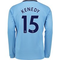 Newcastle United Away Shirt 2017-18 - Long Sleeve with Kenedy 15 printing