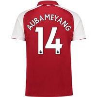 Arsenal Home Shirt 2017-18 - Outsize with Aubameyang 14 printing
