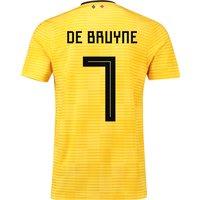 Belgium Away Shirt 2018 - Kids with De Bruyne 7 printing