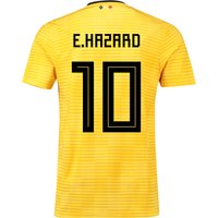Belgium Away Shirt 2018 - Kids with E.Hazard 10 printing