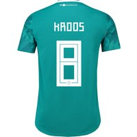 Germany Authentic Away Shirt 2018 with Kroos 8 printing