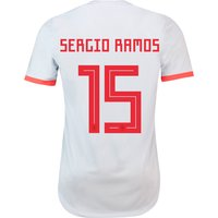 Spain Authentic Away Shirt 2018 with Ramos 15 printing