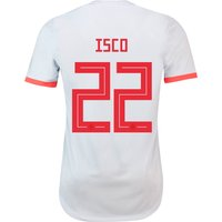 Spain Authentic Away Shirt 2018 with Isco 22 printing