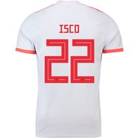 Spain Away Shirt 2018 with Isco 22 printing