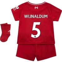 Liverpool Home Baby Kit 2018-19 with Wijnaldum 5 printing