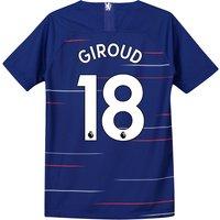 Chelsea Home Stadium Shirt 2018-19 - Kids with Giroud 18 printing