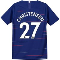 Chelsea Home Stadium Shirt 2018-19 - Kids with Christensen 27 printing