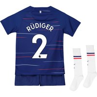 Chelsea Home Stadium Kit 2018-19 - Little Kids with Rüdiger 2 printing