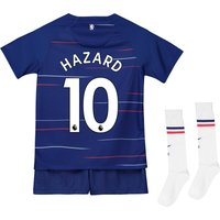 Chelsea Home Stadium Kit 2018-19 - Little Kids with Hazard 10 printing