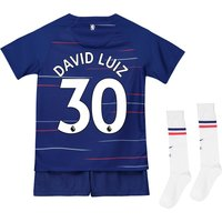 Chelsea Home Stadium Kit 2018-19 - Little Kids with David Luiz 30 printing
