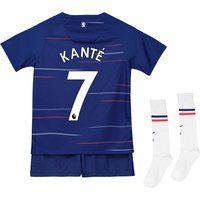Chelsea Home Stadium Kit 2018-19 - Infants with Kanté 7 printing