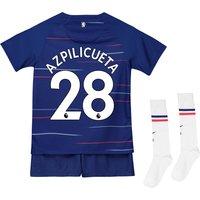 Chelsea Home Stadium Kit 2018-19 - Infants with Azpilicueta 28 printing