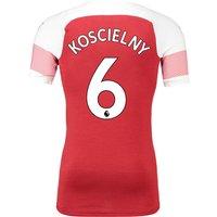 Arsenal Authentic Evoknit Home Shirt 2018-19 With Koscielny 6 Printing