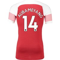 Arsenal Authentic Evoknit Home Shirt 2018-19 With Aubameyang 14 Printing