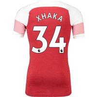 Arsenal Authentic Evoknit Home Shirt 2018-19 With Xhaka 34 Printing