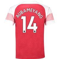 Arsenal Home Shirt 2018-19 with Aubameyang 14 printing