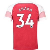 Arsenal Home Shirt 2018-19 with Xhaka 34 printing