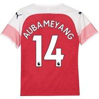 Arsenal Home Shirt 2018-19 - Kids with Aubameyang 14 printing