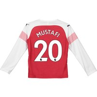 Arsenal Home Shirt 2018-19 - Kids - Long Sleeve with Mustafi 20 printing
