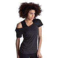 Reebok EasyTone Dbl Layer Short Sleev Top - Black Melange - Women