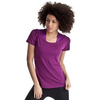 Reebok EasyTone Dbl Layer Short Sleev Top - Aubergine - Women