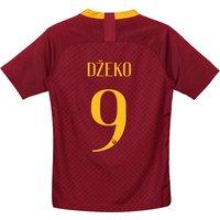 AS Roma Home Stadium Shirt 2018-19 - Kids with Džeko 9 printing